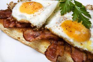 Stekt baconmacka